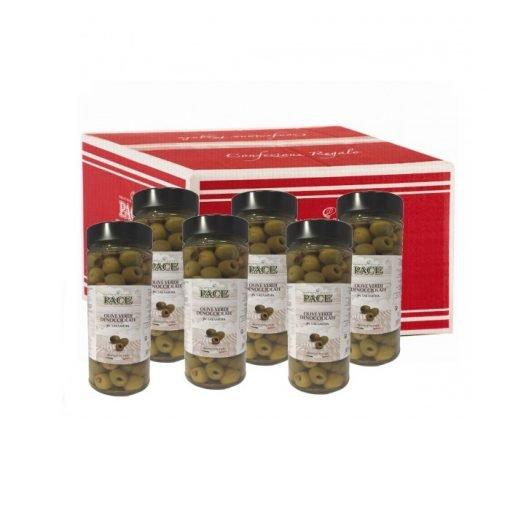 Olive Verdi Denocciolate in salamoia - Confezione regalo